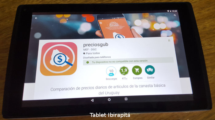 preciosgub no compatible ibirapita