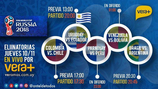 uruguay vs ecuador en veramas