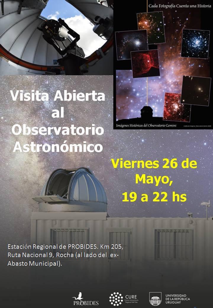 folleto de visita al observatorio astronomico de rocha